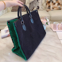 Winter new Wool fabric classic print flower handbags purses totes large capacity travelling luggage bag shopping bags duffle bag