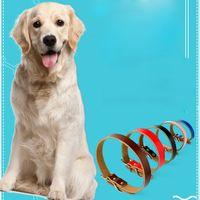 Cane Lettera regolabile collare fibbia ad ardiglione in pelle di cane collari Lace Pet Dog Supplies Rosso Rosa Blu volontà e nave di goccia di sabbia