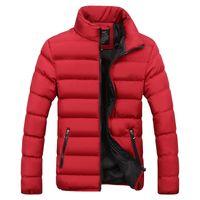 Kış Ceket Erkekler Kabarık Parka Erkek Kış Ceketler Adam Puffer Coat Sıcak Palto Erkek Palto İnce Katı Parkas Isınma