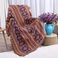 100% Pure Cotton Geometric Abstract Pattern Throw Blanket Be...