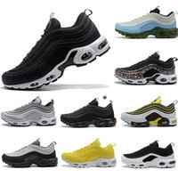 Bred 97S Mens Running shoes Realtree White Evergreen Sunburst UNDEFEATED UNDFTD Olive Triple black Team Red Men women sports Sneakers 36-46