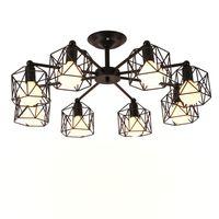 Старинные люстры Multiple Rod Кузница Потолочный светильник E27 Лампа Гостиная Lamparas для дома Освещение Светильники