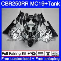 Injektionsform Body Silver Black New + Tank för Honda CBR 250RR 250R CBR250RR 88 89 261HM.11 CBR 250 RR MC19 CBR250 RR 1988 1989 Fairings Kit