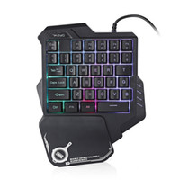 G30 Wired Gaming Keypad with LED Backlight 35 Keys One- hande...