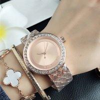 Markenarmbanduhr für Frauen-Mädchen-Kristallgroßschrift-Art Metall-Stahlband-Uhr-M85
