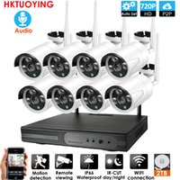Kit 8CH Audio System CCTV 720P Wireless NVR 8PCS 2.0MP IR esterna P2P IP di Wifi di sicurezza del CCTV Sistema di Sorveglianza