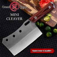 Cleaver mano del cuchillo forjado Mini Chef cuchillos de cocina barbacoa Herramientas carnicero hacha acampar al aire libre cocina casera Grandsharp