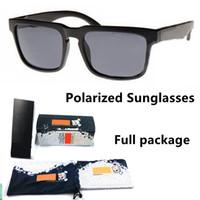 Полный пакет брендовый дизайнер скрыт Кен блок поляризованные солнцезащитные очки мода мужские квадратные рамки мужские вождения солнцезащитные очки оттенки очки