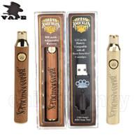 Pirinç Knuckles Vape Pil 650 mAh Altın 900 mAh Değişken Gerilim Ayarlanabilir E-Sigara Pil Kalem 510 Konu Kalın Yağ Kartuşu DHL