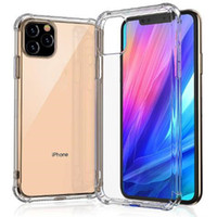 Super Anti-knock Soft TPU Transparent Clear Phone Case Protege Back Cover a prueba de golpes para iPhone 11 pro max X XS 7 8 6 plus note 10 9 S10 S9