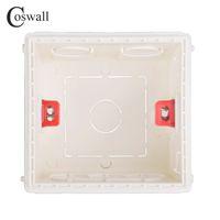Coswall Регулируемая монтажная коробка Внутренний кассетный 86мм * 83мм * 50мм для 86 Тип переключателя и гнездо белый / красный цвет Электропроводка коробка