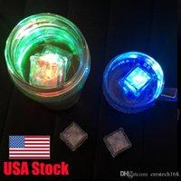 RGB LED 깜박임 아이스 큐브 조명 물 잠수정 액체 센서 클럽 웨딩 파티 샴페인 타워에 대 한 LED 빛