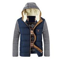 New Herren Winterjacken und Mäntel Herren Warm Parkas Dickes Fleece Cotton Mäntel dünne Männer Jacken mit Kapuze Mantel Herren-Marken-Kleidung