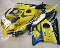 Carreyo personalizado para Honda CBR600 F2 COWLINGS 1991 1992 1993 1994 CBR 600 600F2 Amarillo Azul Blanco Alquileres de alestrado