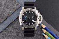 고급 남성 시계 완전 자동 기계 운동 316L 스테인레스 스틸 케이스 미네랄 강화 유리 수입 가죽 스트랩 직경 48mm