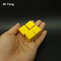 الأصفر 100 قطع 2 سنتيمتر شجرة خشبية مكعب لعبة أداة الدماغ دعابة الشعور المشترك التعليم لعب للأطفال (نموذج رقم b279)