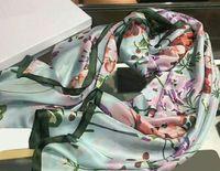 Высокое качество 2019 мода осенью и зимний бренд шелковые шарфы вечно классический, супер длинный шал мода женские мягкие шелковые шарфы