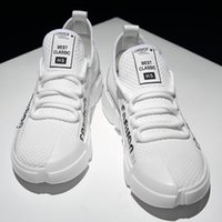 3a3d77179e2 2019Hot style foam fly mesh face breathable all-in-one lace casual sports  shoes Korean fashion white soft sole wear-resistant comfortable