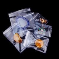 Refermable Zip Lock PVC Anti-oxydation Sac Bijoux Emballage Sac En Plastique Bagues Jade Perle Anti-ternissement Emballage Zip Pochette
