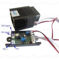Módulo láser RGB Etapa de luz del foco ajustable 300MW 532nm luz verde con TTL DIY del tablero de conductor
