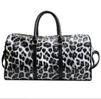 Totes Sac PU femmes Leopard impression Designer Handbags 44cm Transparent Bagages Duffle Bag