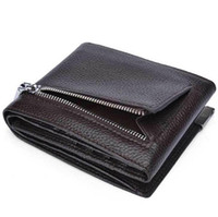 Men Wallet Genuine Cow Leather Trifold Brand Fashion Designe...