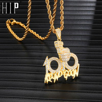 Hip Hop Full Iced Out Bling 100 Necklace Gun Rhinestone Rope...