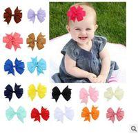 480pc / lot DIY Multi Schwalbenschwanz Band-Haar-Clips Childen Schmetterlings-Knoten-Haar kratzt Haarpflege Styling Zubehör Werkzeuge HA622