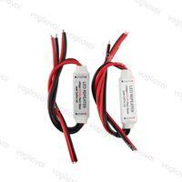Dimmerler Amplifikatör Mini Tek Renk DC12-24V 6A 3 Kanal LED Şerit Güç Tekrarlayıcı Aydınlatma Aksesuarları için SMD 5050 3528 Şeritler Eub