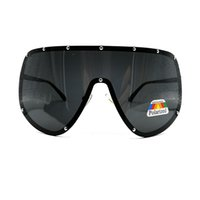 Fashion Oversized Big Huge Mask Shield Half Face Polarized L...