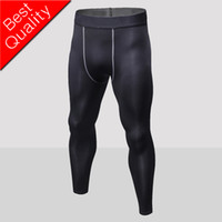 Livraison gratuite mens compression pantalon sport running collants basket-ball gym pantalon bodybuilding joggers leggings maigres avec logos