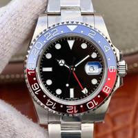 N fábrica de Batman 116710 ETA 2836 del reloj para hombre de cristal de zafiro mecánico automático del reloj de cerámica Bisel Dial buceo luminoso 100M 904L