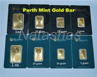 5/10/20/31 gramm The Perth Mint Gold überzogene Goldbarren 999 FEINE Australien kopie gold platte bar Grün / schwarz blister qualität heißer verkauf