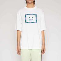 2020 diseñador de acné estudios verano nuevo moda mujer camisetas algodón chiara ferragni lentejuelas estilo de acné hombres estrellas estrellas