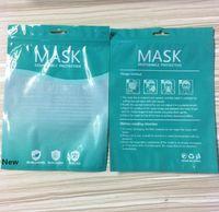 재고 마스크 포장 가방에 지퍼 OPP 가방 소매 마스크 가방 영어 반투명 플라스틱 애 가방 포장 GGA3448-4
