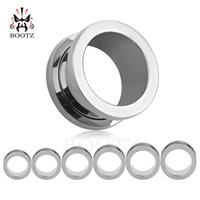 KUBOOZ piercing populaire 8 couleurs tunnels et bouchons d'oreille en acier inoxydable oreille jauges brancards piercing bijoux 6-25mm