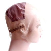 Stock Full Spitze Perücke Kappen zur Herstellung von vollen Spitzenperücken einstellbare Riemen Glueless Webereikappe anpassen Hairnets
