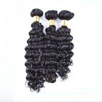 B 100% реальные девственницы Remy перуанской для волос Связки ткачество 4шта С Lot глубокой волной человеческих волос Закрытие 4x4 Quot; отбеленные узлы