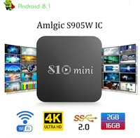 S10 mini Android 8. 1 TV Box Quad Core 2GB 16GB Amlogic S905W...