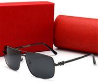 Летние Мужские Солнцезащитные очки Goggle Солнцезащитные очки 0125 Очки для Прямоугольные Очки для мужчин Вождение UV400 Высококачественное С коробкой