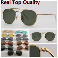 Lunettes de soleil Top Qualité Marque designer 3648 lunettes de soleil nuances pour hommes femmes UV400 Lentilles en verre avec livraison étui en cuir, emballages de détail