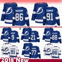Tampa Bay Lightning Herren Steven Stamkos Hockey-Trikots 86 Nikita Kucherov 77 Victor Hedman 88 Andrei Vasilevskiy 9 Johnson 21 Braayden Point