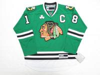 36edb0ba7 New Arrival. Cheap custom DENIS SAVARD CHICAGO BLACKHAWKS ST. PATRICK'S DAY  GREEN PREMIER JERSEY stitch add any number any name Mens Hockey ...