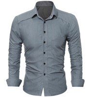 Mens Shirt Spring Autumn Shirts Men Casual Simple Business C...