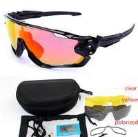 Jawbreaker polarizada 4lens ao ar livre esportes de montanha de bicicleta UV400 Sunglasses homens Gafas Ciclismo BTT Ciclismo JBR Óculos motocycle Óculos