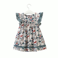 New Summer 2019 Baby Girls Dresses Toddler Floral Printed Dr...