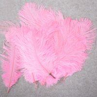 10-12 polegadas Pena de Avestruz Pena Natural Real para Decoração de Casa Decorações de Festa de Casamento, Pacote de 100 (rosa)