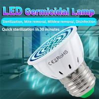 LIGHT LED UV E27 E14 B22 GU10 MR16 Sterilizzatore UV UV Kill Mite Germs LED Lampadine Germicidal Light 110V 220V Lampada ultravioletta interna