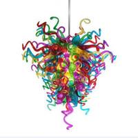 الأوروبي الباروك نمط الثريات مصابيح الإضاءة نوعية جيدة ac 110-240 فولت أدى توفير ضوء مصدر ضوء ملون اليد المنفأة الزجاج الثريا