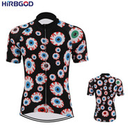HIRBGOD jersey cycling 2019 Men Short Sleeve Quickdry Cycling clothes corlorful Cartoon eyes Ropa Short Top, STYZ050